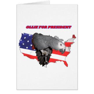 Ollie For President Card