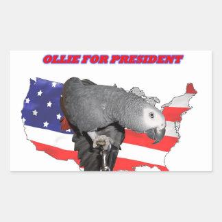 Ollie for President Rectangular Sticker