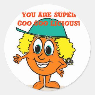 Ollie Orange Stickers