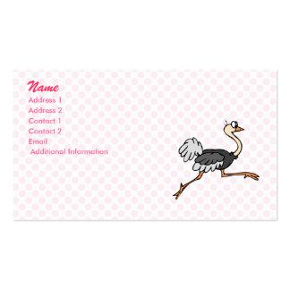 Ollie Ostrich Business Card