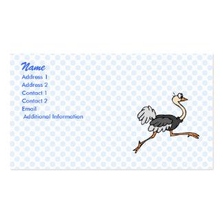 Ollie Ostrich Business Card Templates