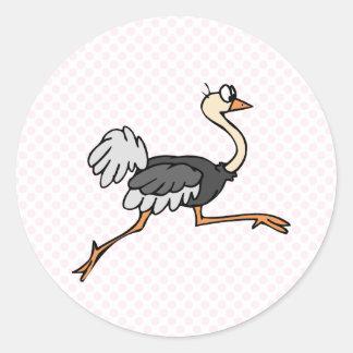 Ollie Ostrich Classic Round Sticker