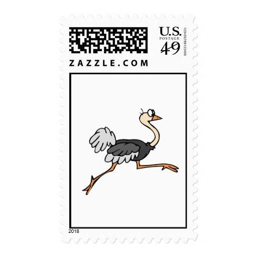 Ollie Ostrich Stamp