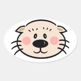 Ollie the Otter Oak Knoll Oval Sticker