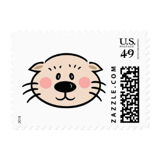 Ollie the Otter Postage Stamp