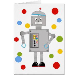 Ollie The Robot Card