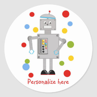 Ollie The Robot Classic Round Sticker