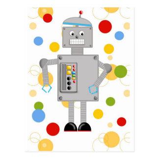 Ollie The Robot Postcard