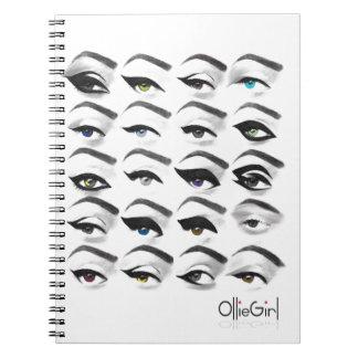 OllieGirl Spiral Notebooks
