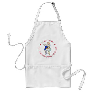 ollow Me - I'll Take you to Wonderland! Adult Apron