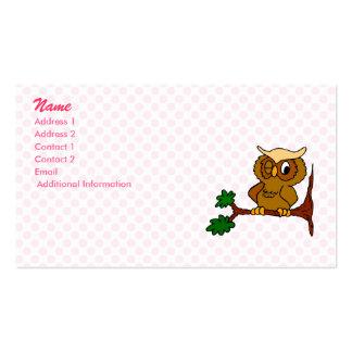 Olly Owl Business Card Template