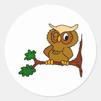 Olly Owl Classic Round Sticker