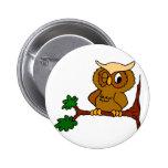 Olly Owl Pinback Button