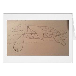 Olly Sea Tortoise, Original Card