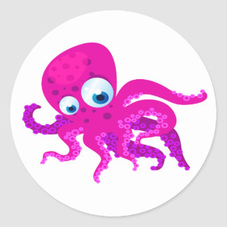 Olly The Octopus Classic Round Sticker