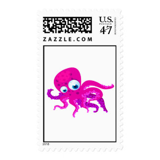 Olly The Octopus Postage Stamp