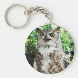 OLLY THE OWL BASIC ROUND BUTTON KEYCHAIN