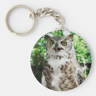 """ OLLY "" THE OWL KEYRING BASIC ROUND BUTTON KEYCHAIN"