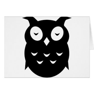 Olly the wise old owl card