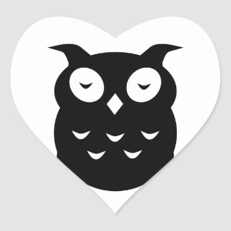 Olly the wise old owl heart sticker