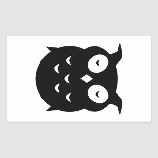 Olly the wise old owl rectangular sticker