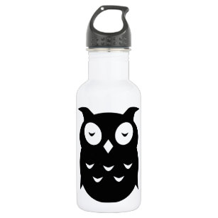 Olly the wise old owl stainless steel water bottle