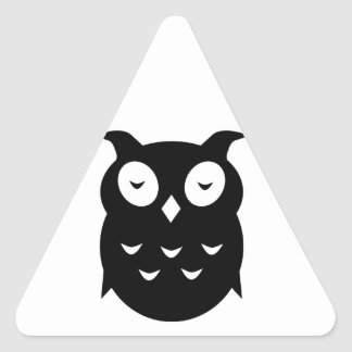 Olly the wise old owl triangle sticker