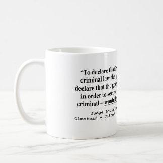 Olmstead v United States 277 US 438 1928 Brandeis Coffee Mug