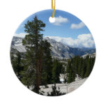 Olmsted Point III in Yosemite National Park Double-Sided Ceramic Round Christmas Ornament