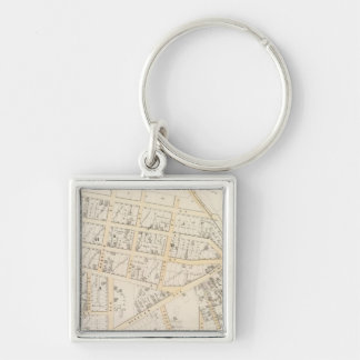Olneyville Providence Rhode Island Silver-Colored Square Keychain
