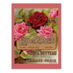 Olor de Eau De Roses french Tarjetas Postales