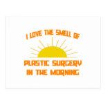 Olor de la cirugía plástica por la mañana tarjetas postales