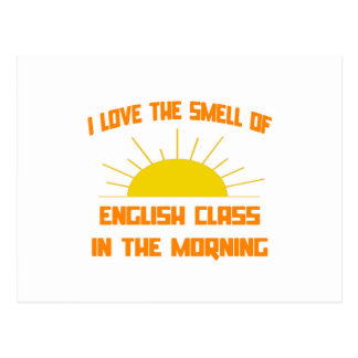 Olor de la clase de inglés por la mañana tarjetas postales
