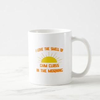 Olor de la clase del gimnasio por la mañana taza de café