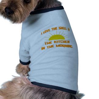 Olor de la cocina por la mañana camisetas mascota