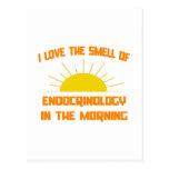 Olor de la endocrinología por la mañana postal