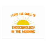 Olor de la endocrinología por la mañana tarjetas postales