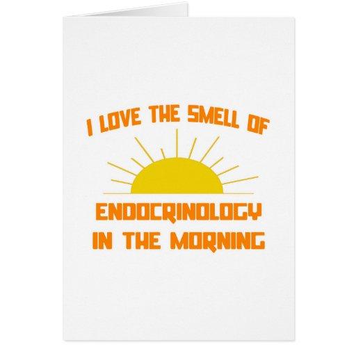 Olor de la endocrinología por la mañana tarjetas