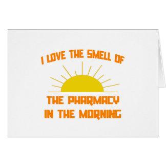 Olor de la farmacia por la mañana tarjeta