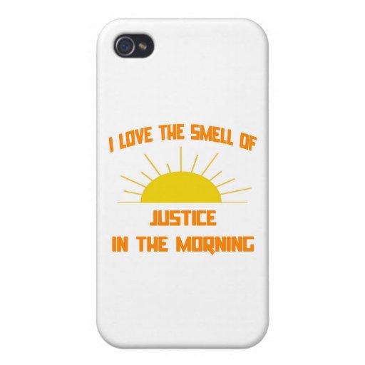 Olor de la justicia por la mañana iPhone 4 carcasa