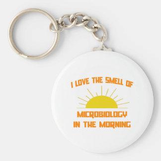 Olor de la microbiología por la mañana llavero