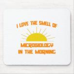 Olor de la microbiología por la mañana alfombrilla de ratón