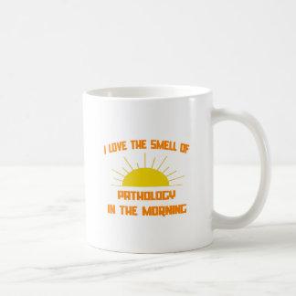 Olor de la patología por la mañana tazas