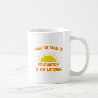 Olor de la psiquiatría por la mañana taza básica blanca