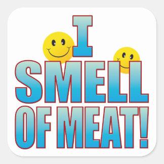 Olor de la vida B de la carne Pegatina Cuadrada