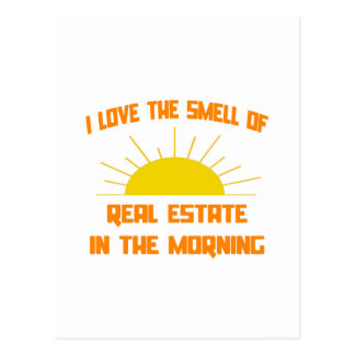 Olor de las propiedades inmobiliarias por la mañan tarjetas postales