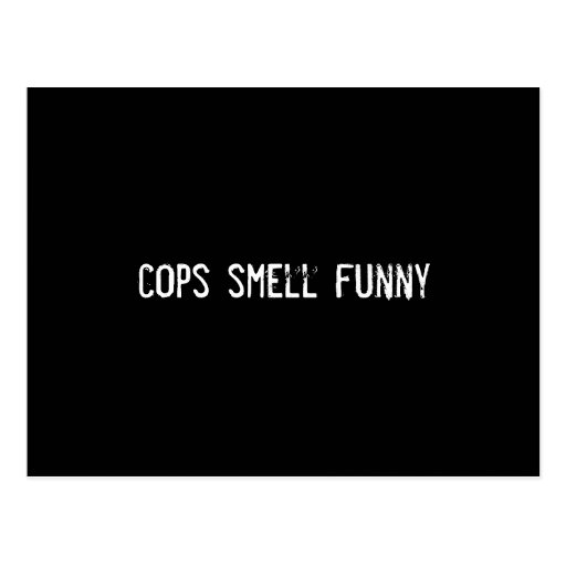 olor de los polis divertido tarjeta postal