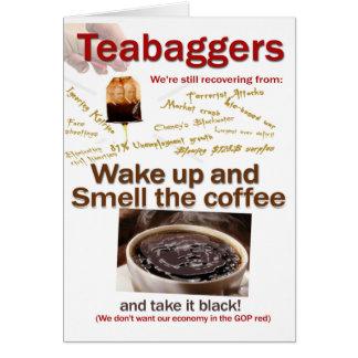 Olor de Teabagger el café Tarjetas