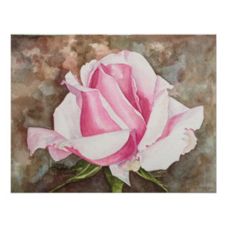 Olor del 1C color de rosa Póster
