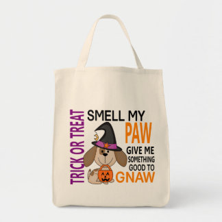Olor del perro de Halloween mi pata 2 Bolsa Tela Para La Compra